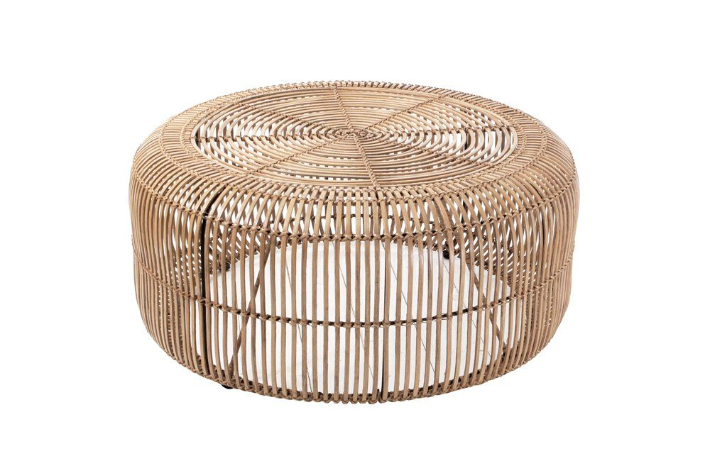 Hand Braided Rattan Coffee Table By Hk