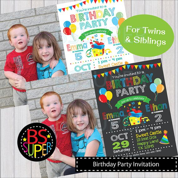 Double birthday party invitations kubreforic double birthday party invitations filmwisefo