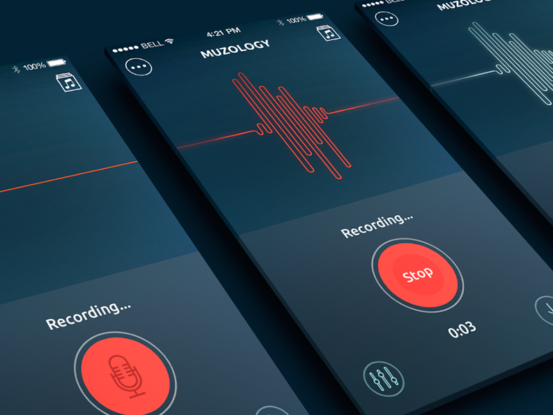 Recording (With images) App interface, Sound waves, Web