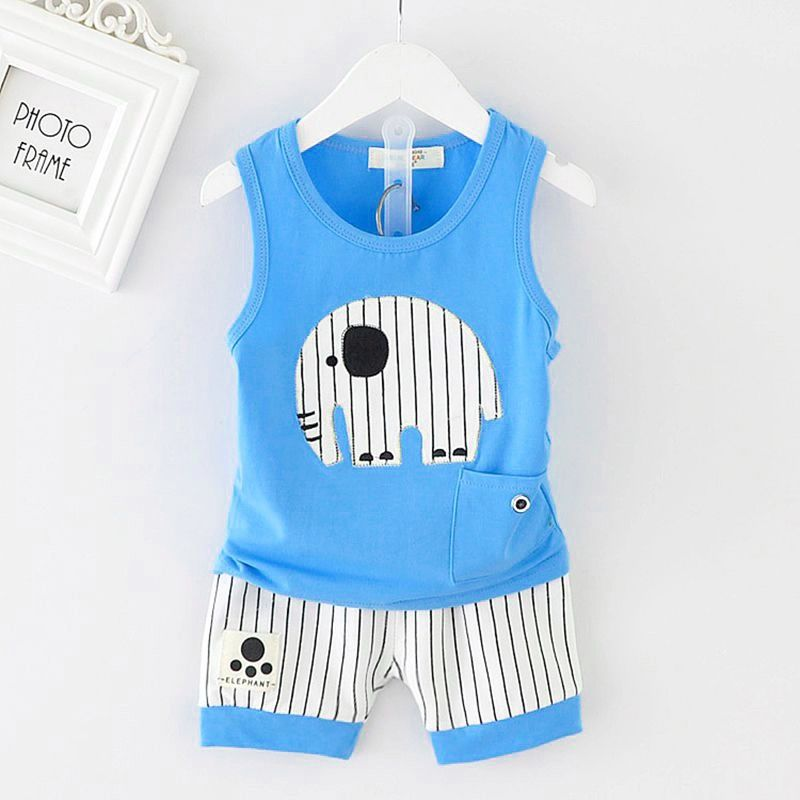 4bec2a261 Click to Buy    Summer Boys Clothes Sets Kids Clothes Sleeveless ...