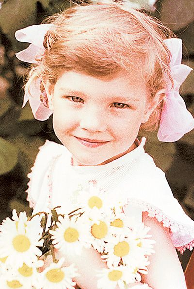 Natalia Vodianova in childhood