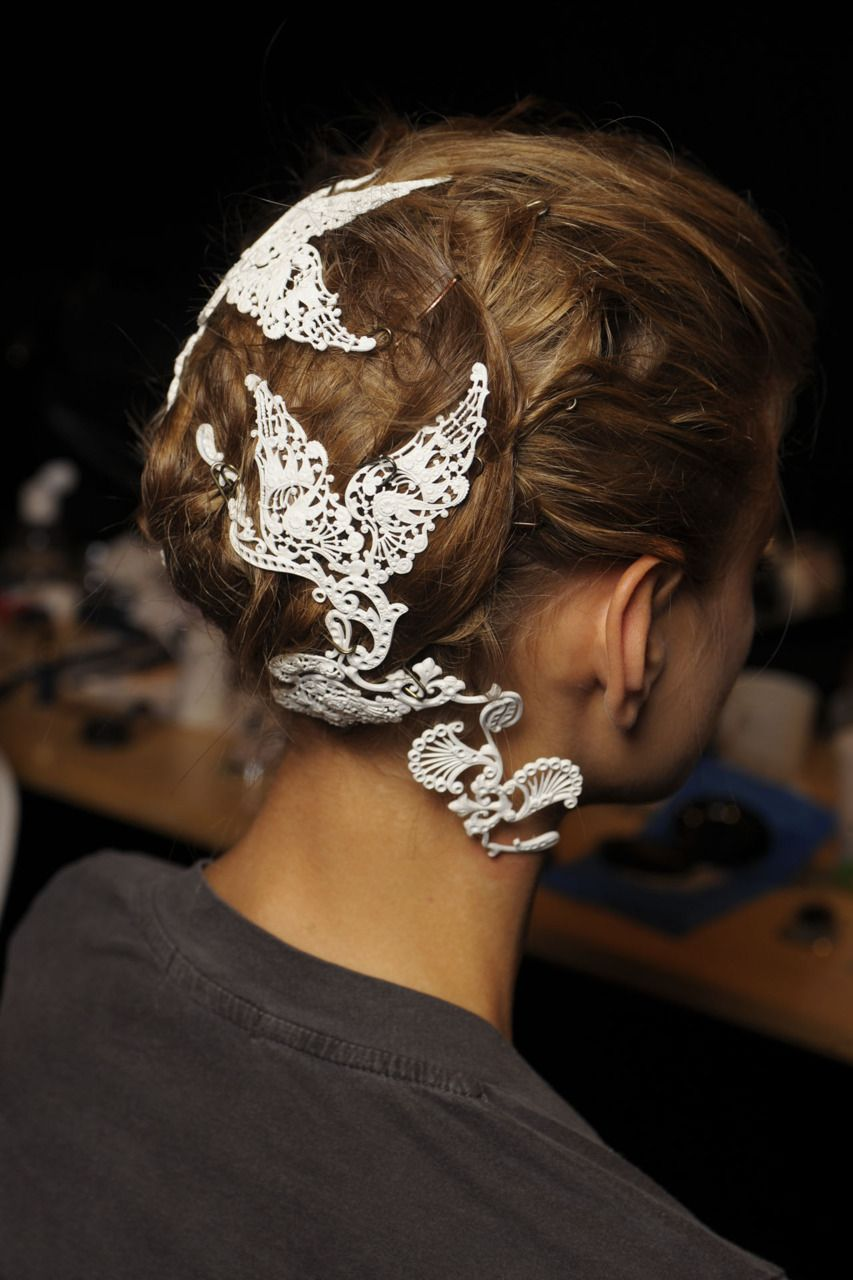 Lace hair accessories so cute and classy for the fall and winter time and will instantly dress up any look