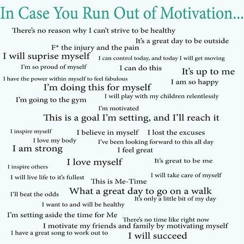 Just in case you run out of MOTIVATION!!