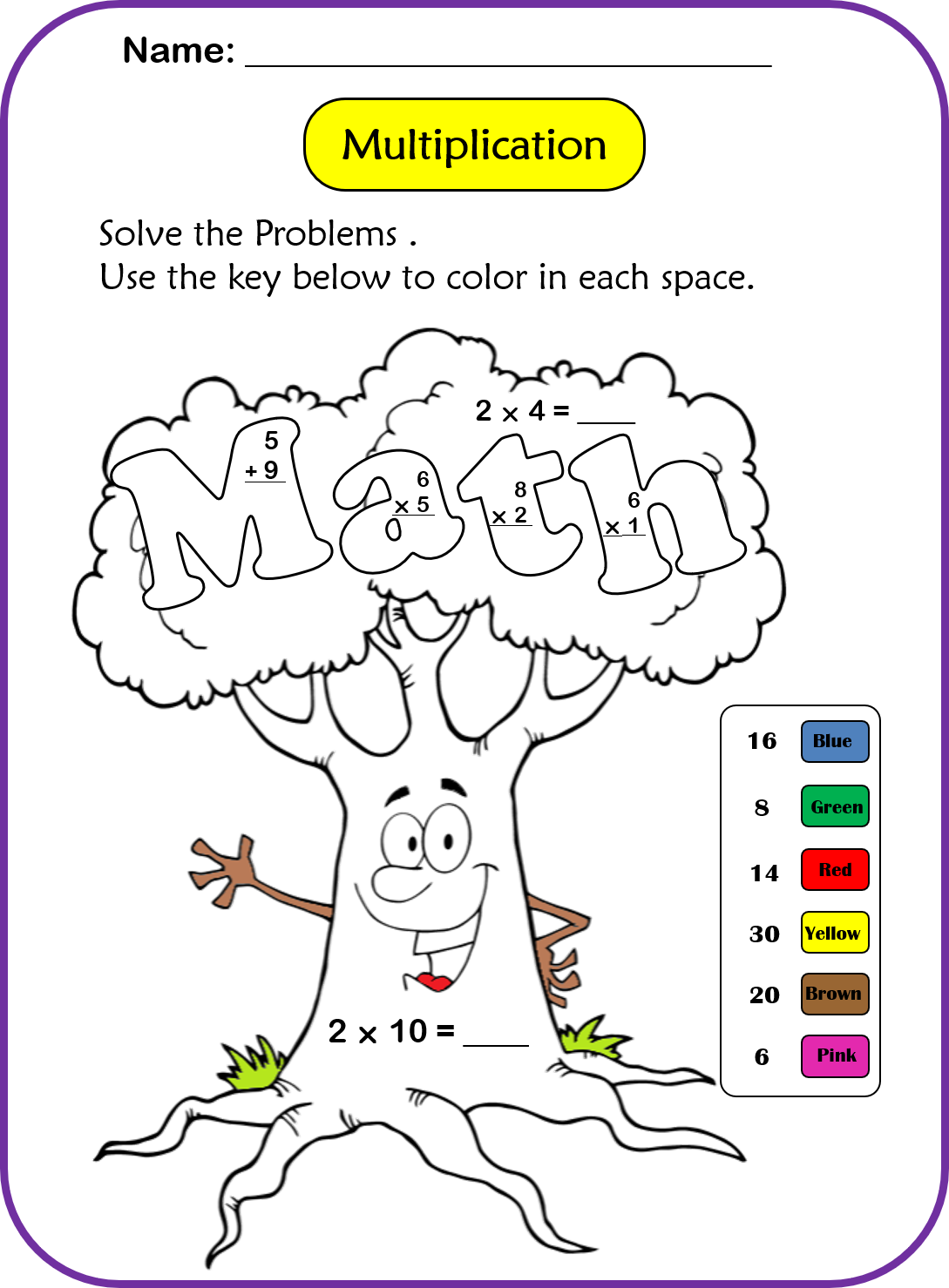 Addition Subtraction And Multiplication Worksheets