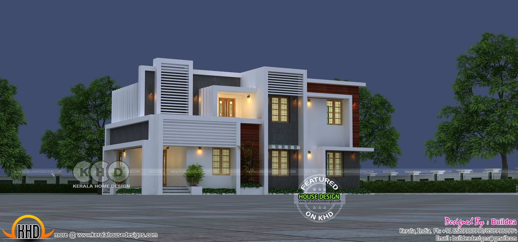 bedroom square feet modern budget friendly house plan by buildea kollam kerala also style bhk home design in decor rh pinterest