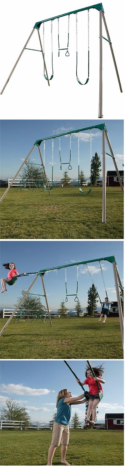 Swings Slides And Gyms 16515 Lifetime 10foot Swing Set Earthtone