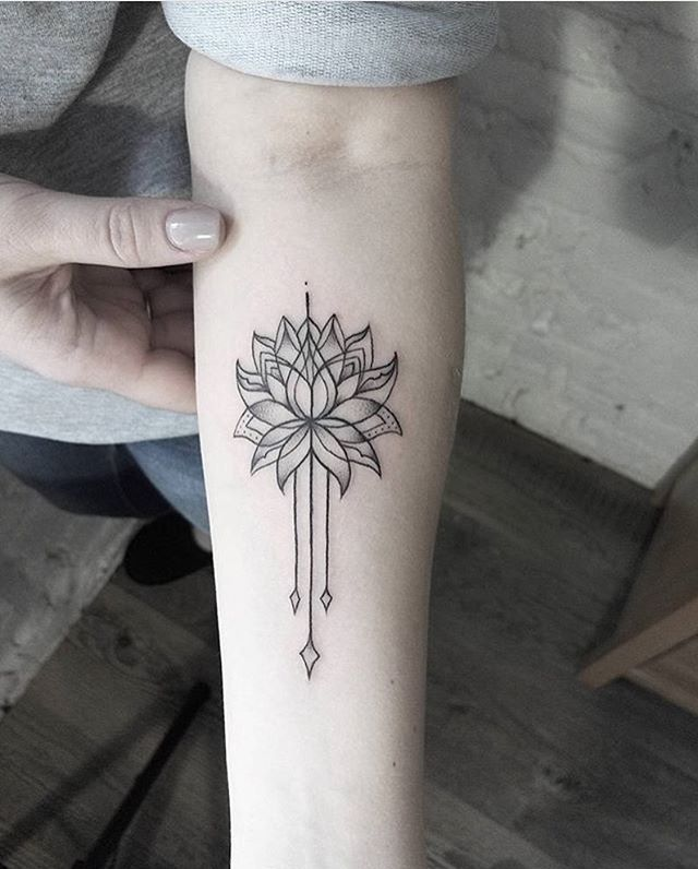 3af8a63dc2483 Lotus tattoo idea More Mandala Arm Tattoos, Small ...