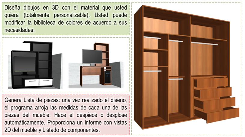 Diseños de cocinas, armarios y muebles en general. Programas y ...