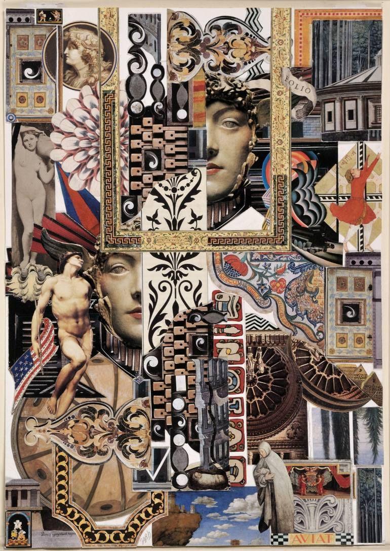 Medusa Art Print Medusa Art Decoupage Art Paper Collage Art