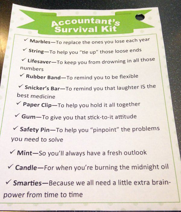 Image result for tax season survival kit for accountants ...