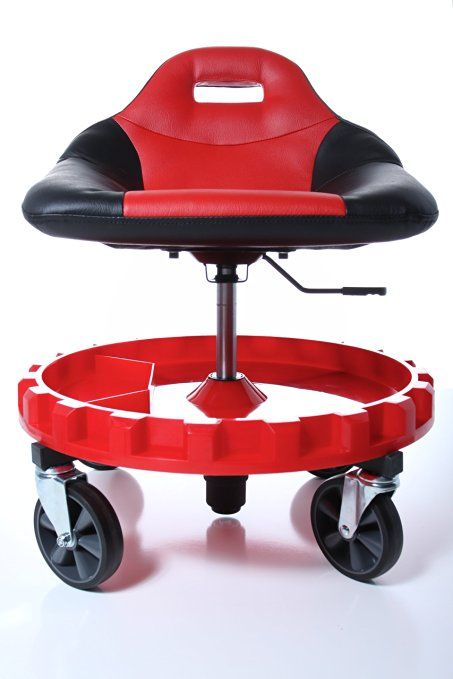 Amazon Com Traxion 2 700 Progear Mobile Gear Seat Automotive Mechanics Chair Mechanics Creeper Car Shop Heavy duty shop stool with wheels
