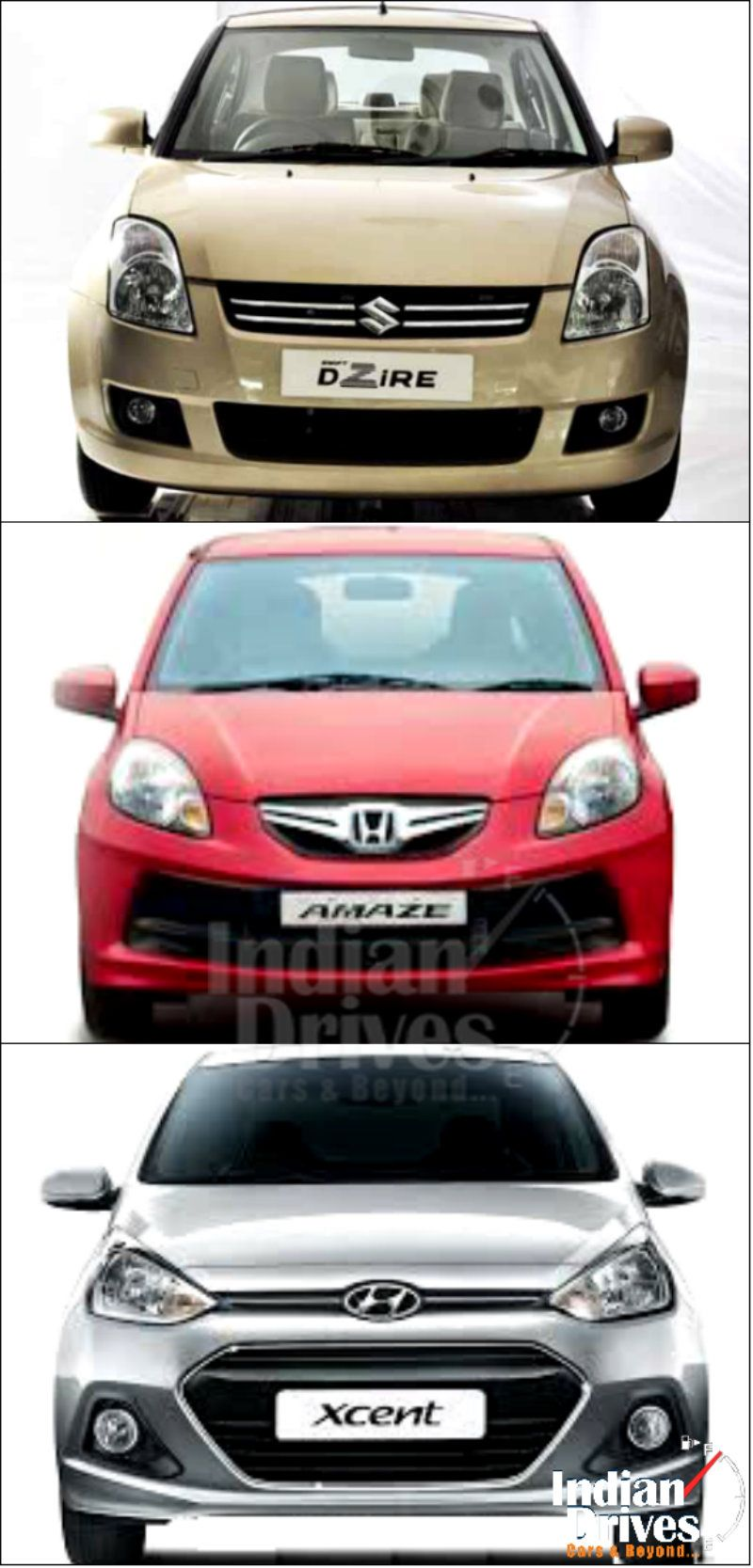 Hyundai Xcent Vs Honda Amaze Vs Maruti Suzuki Dzire Which Is Your