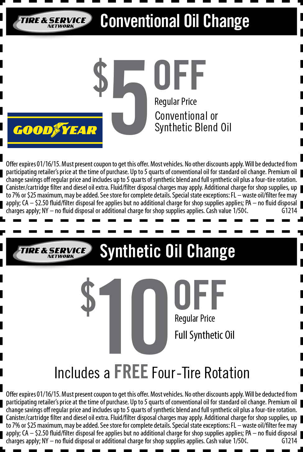 Goodyear Coupons 5 10 Off An Oil Change At Goodyear Coupon Apps Oil Change Coupons