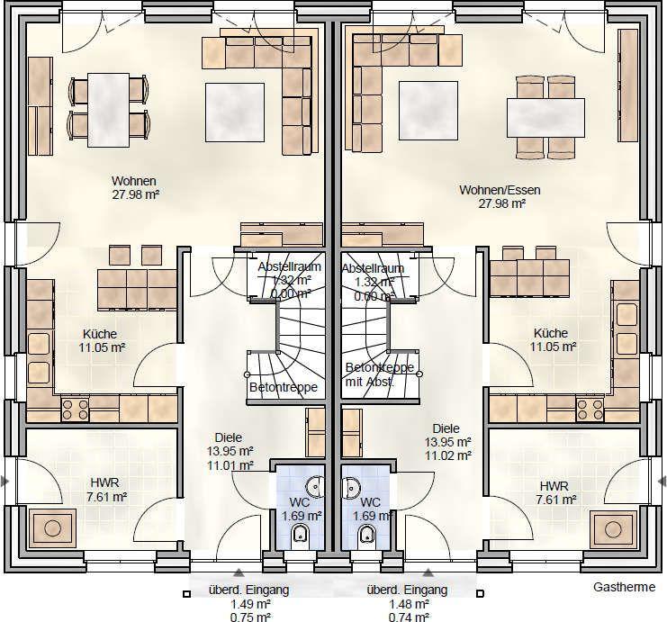 DUO 118 Doppelhaus mit knapp 120 qm Wohnfläche