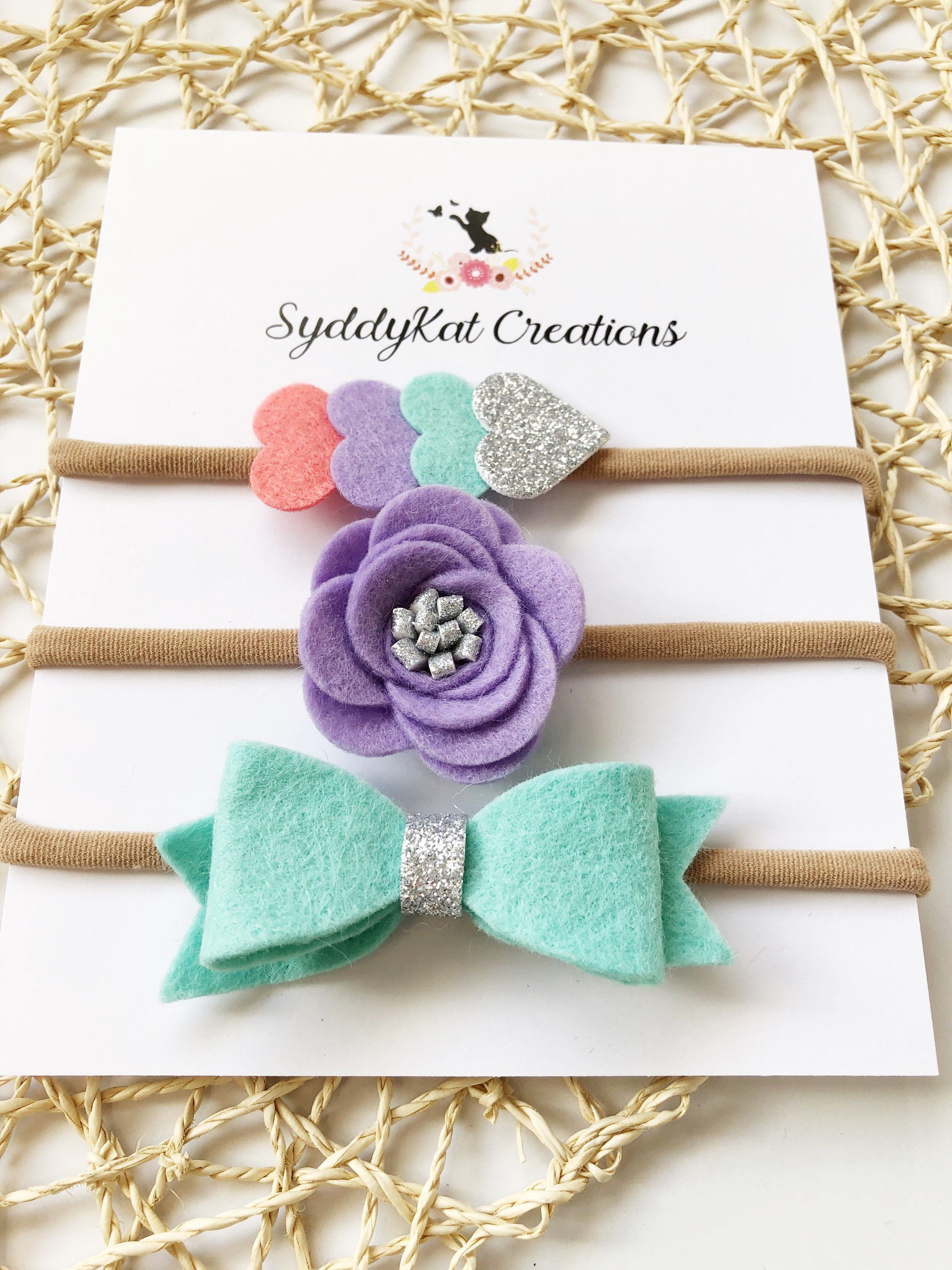 Purple floral faux leather bow purple floral spring bow children/'s hair accessories baby bow baby headband