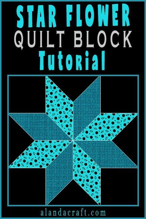 Quilting Blocks: Star Flower Quilt Block