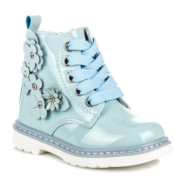 Polbuty I Trzewiki Dzieciece Dla Dzieci Americanclub Niebieskie Trzewiki Na Suwak American Club Wedge Sneaker Sneakers Shoes