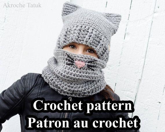 PDF ONLY. Cat Kit crochet pattern by Akroche Tatuk 4 sizes child to ...