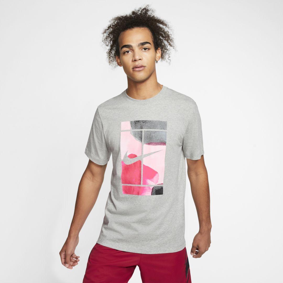 Photo of NikeCourt Men's Tennis T-Shirt (Dark Grey Heather)