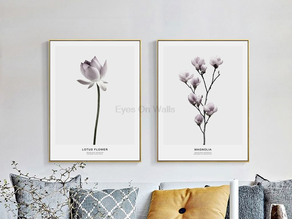 Magnolia Flower on Canvas Wall Pictures Framed Prints Floral Art Home Decoration