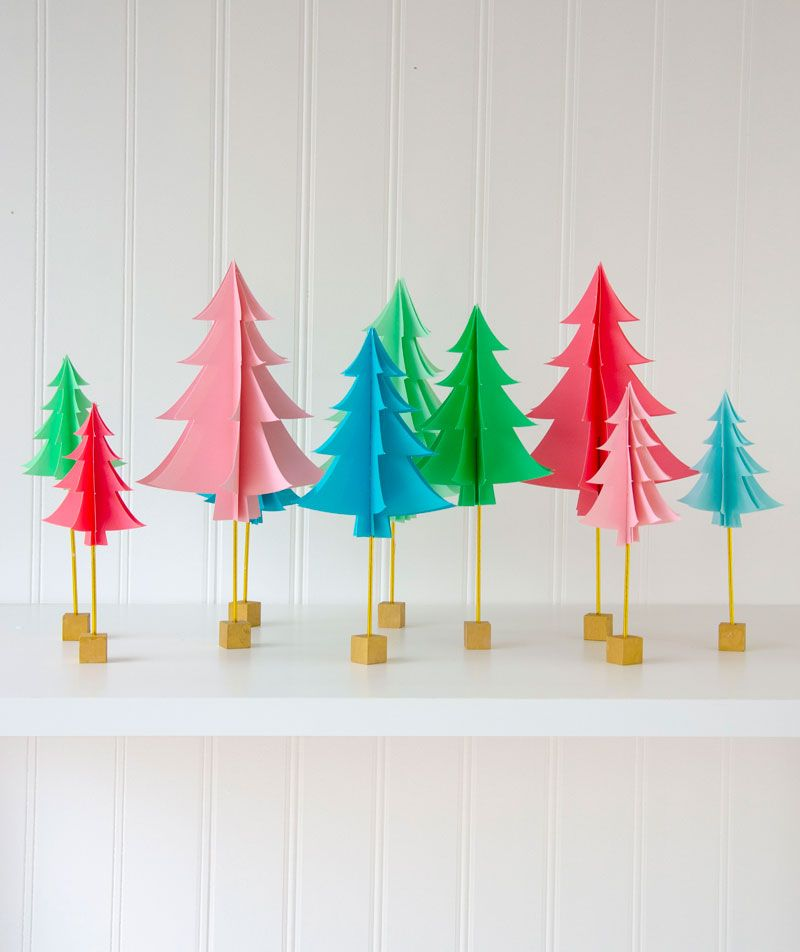 Paper Christmas Tree Tutorial Diy Paper Christmas Tree Paper Christmas Decorations Christmas Garland Diy Paper