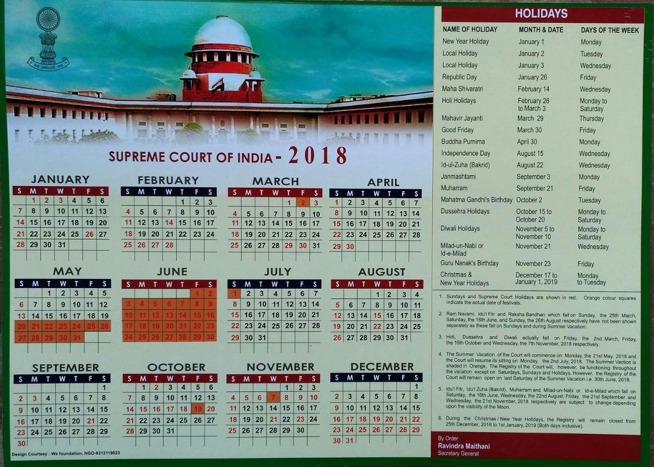 November 2018 Calendar India Holidays New Year Holidays India