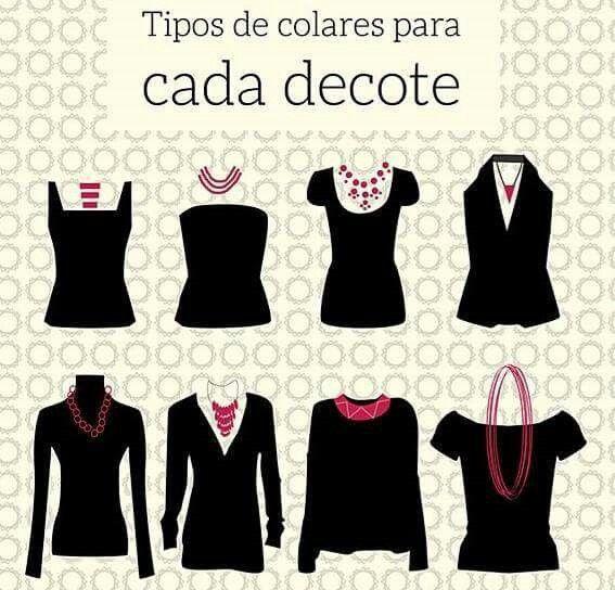 Colares adequados para cada tipo de roupa