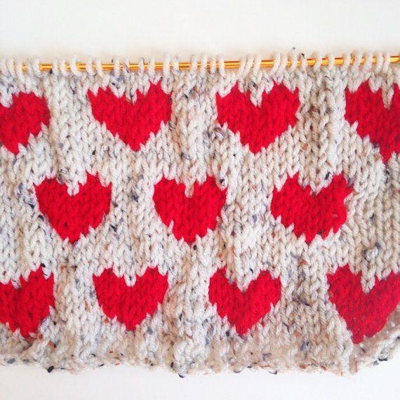 Knit Hearts Pattern Fair Isle Knitting Heart Patterns And Fair Isles