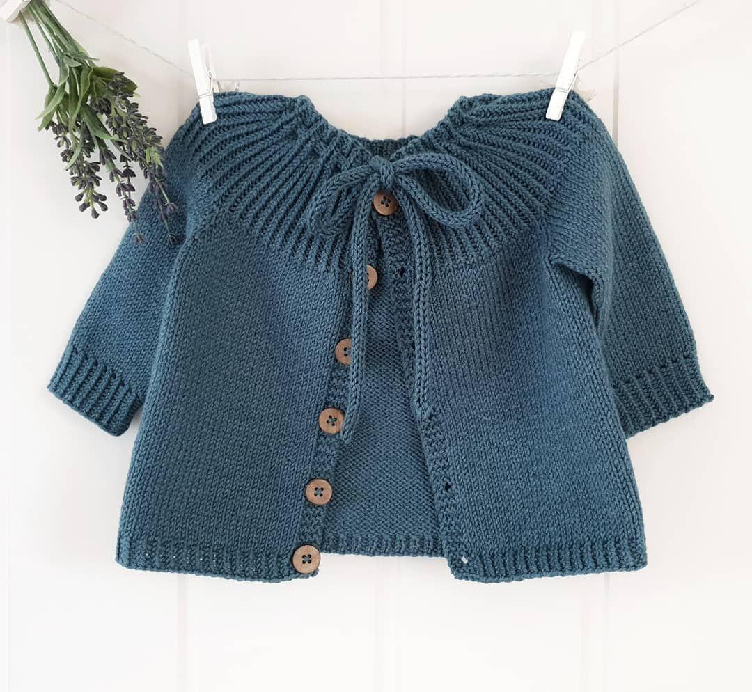 Rosabel Knitted Baby Cardigan [FREE Knitting Pattern]