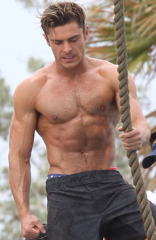 Zach Efron Goes Shirtless For Baywatch Celebrities Pinterest
