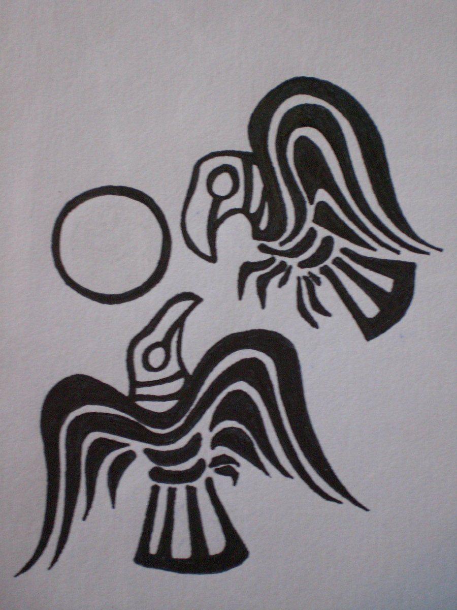 Norse Raven Tattoo Huginn And Muninn My Tattoo By