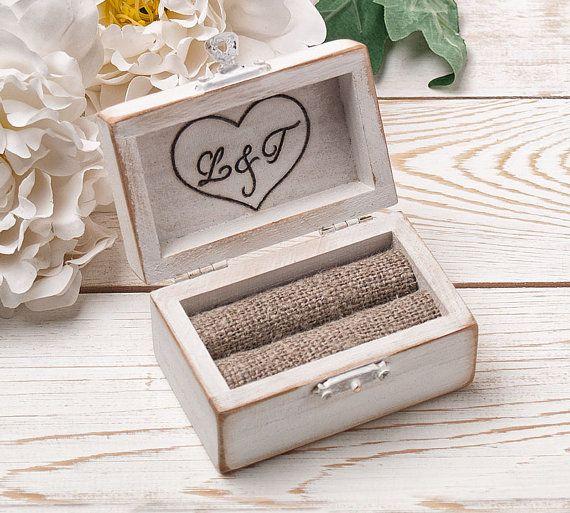Ring bearer box wedding ring box personalized ring box rustic ring bearer box wedding ring box personalized by handmadedecoupage junglespirit Images
