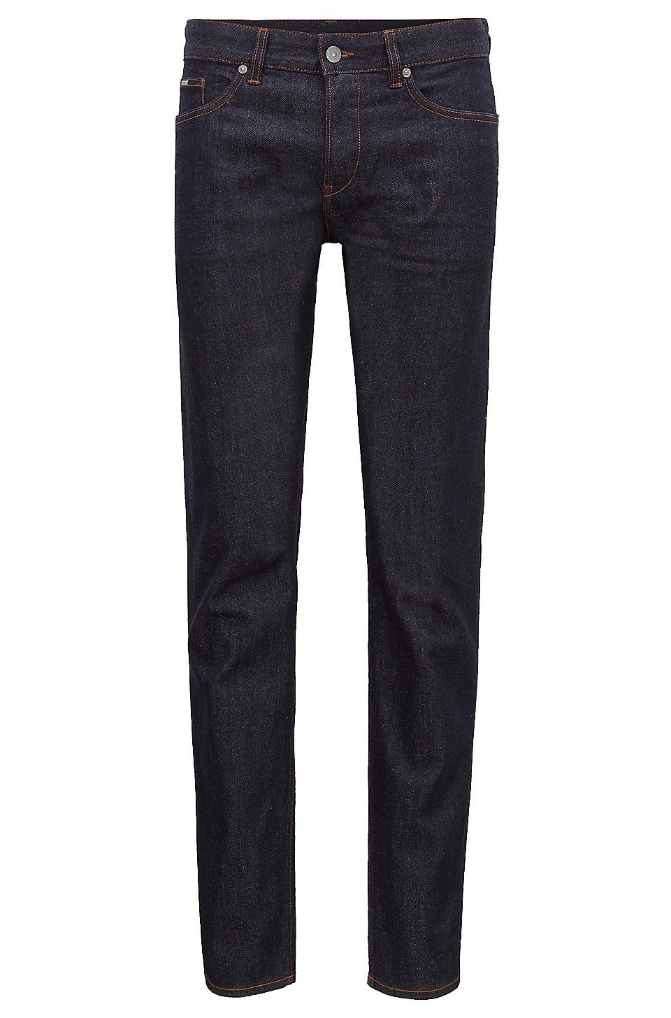 Hugo Boss Slim Fit Jeans In Rinse Washed Stretch Denim Dark Blue Jeans From Boss For Men In The Official Hugo Boss Online Store Free Shipping