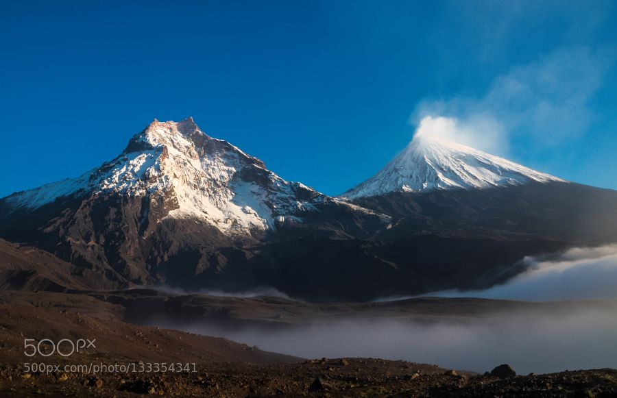 Morning beneath volcanoes by zizoo #nature
