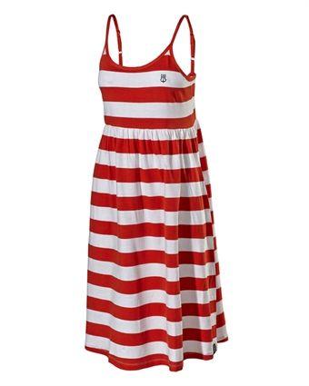 Angelika  Dress bright red/white
