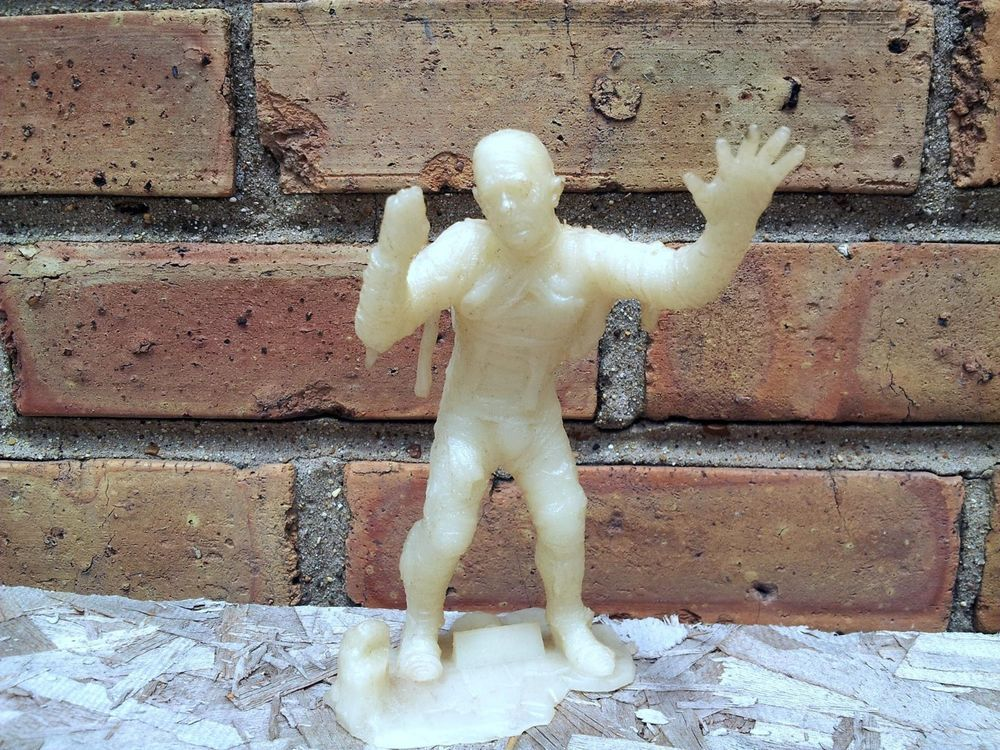The Mummy Glow In The Dark Figure Universal Monsters Uncle Milton 1990 Loose #unclemilton