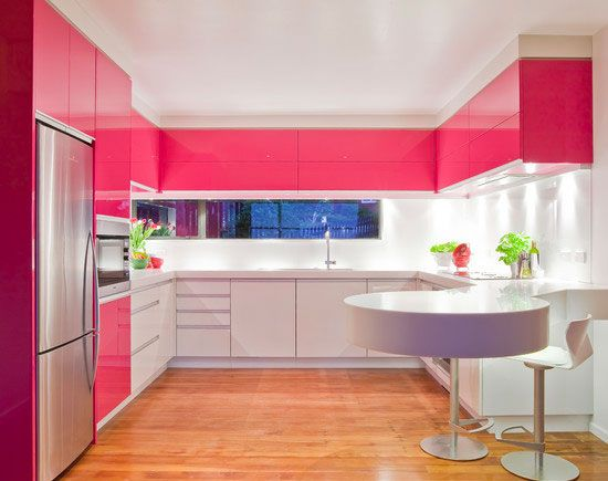 Click Pic for 26 Modern Kitchen Design Ideas | Hot Pink Lacquered Kitchen | Modern Home Decor Ideas