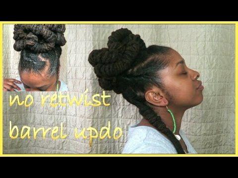 No retwist barrel updo youtube ebony hair lock styles no retwist barrel updo youtube ebony hairloc hairstyleshair pmusecretfo Images