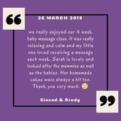 Baby massage review   Lovely review for Baby_Cherish infant massage course 😍, #Baby #BabyCher...