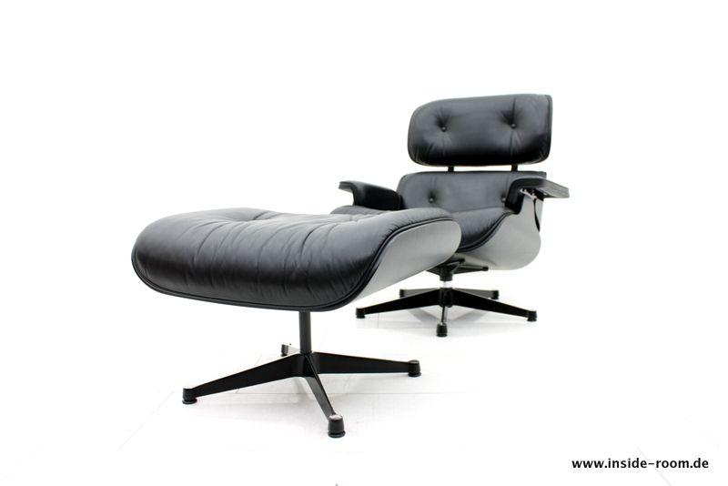 Vitra Chalres Eames : Charles eames lounge chair & ottoman black black vitra modernist