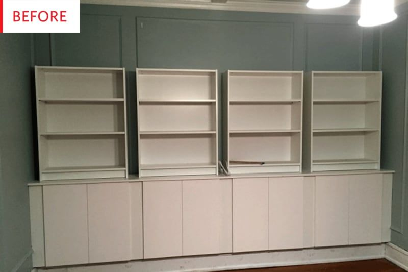This Faux Built In Ikea Hack Could Save You Thousands Bookcase