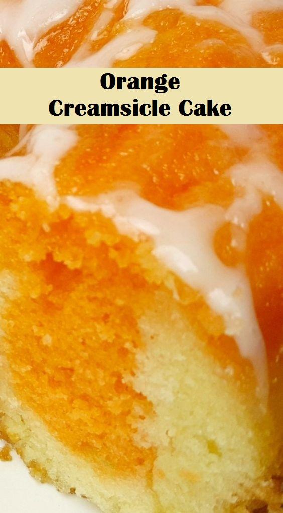 Easy Orange Creamsicle Cake cake desserts Creamsicle