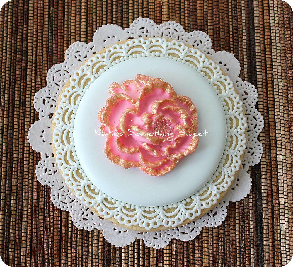 Flower Cookie - Peony Wedding - Wedding Favors - Bridal Shower Gift ...