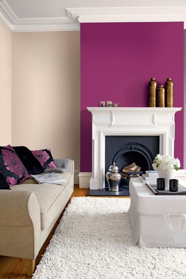 Living Room Feature Wall Design: Scrumptious From Crown Paints Feature Wall Range Teamed