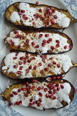 eggplant with buttermilk sauce.
