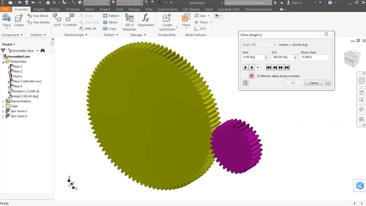 Fabulous Autodesk Inventor Tutorial Spur Gear Animation Youtube Download Free Architecture Designs Lukepmadebymaigaardcom