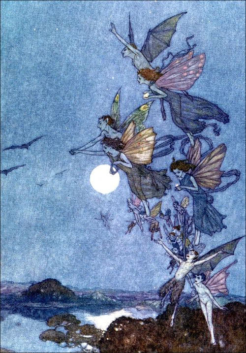 saveflowers1:  Art by Edmund Dulac (1911) from William Shakespeare's THE TEMPEST.