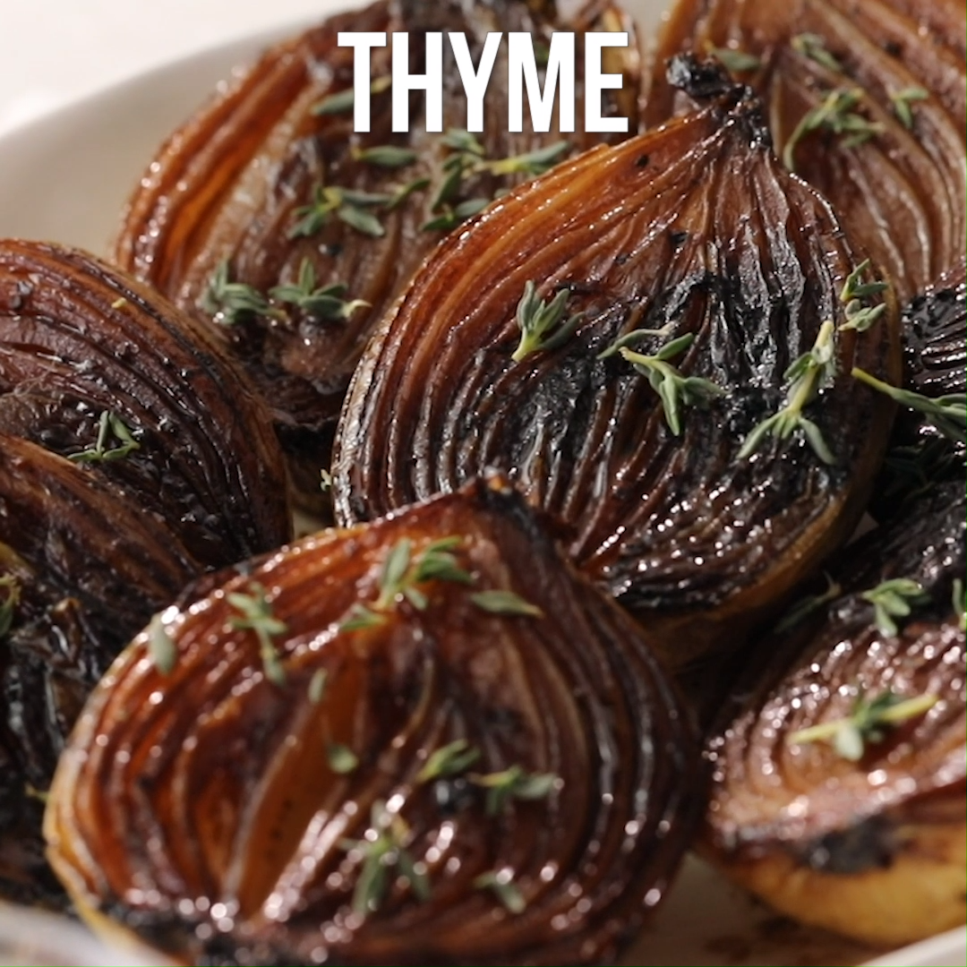 Caramelized Balsamic Onions As these onion halves