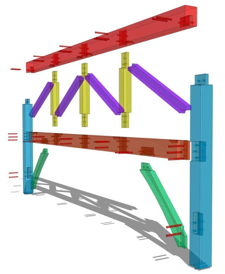 Parallel Chord Truss Timber Frame HQ in 2020 Timber
