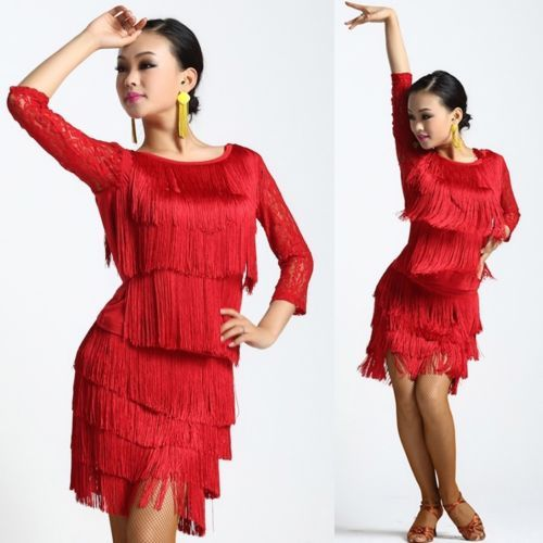 9eee33819e2782 Womens-Latin-Dance-Competition-Dress-Suits-Rumba-Samba-Cha-Cha -Cowboy-Ballroom
